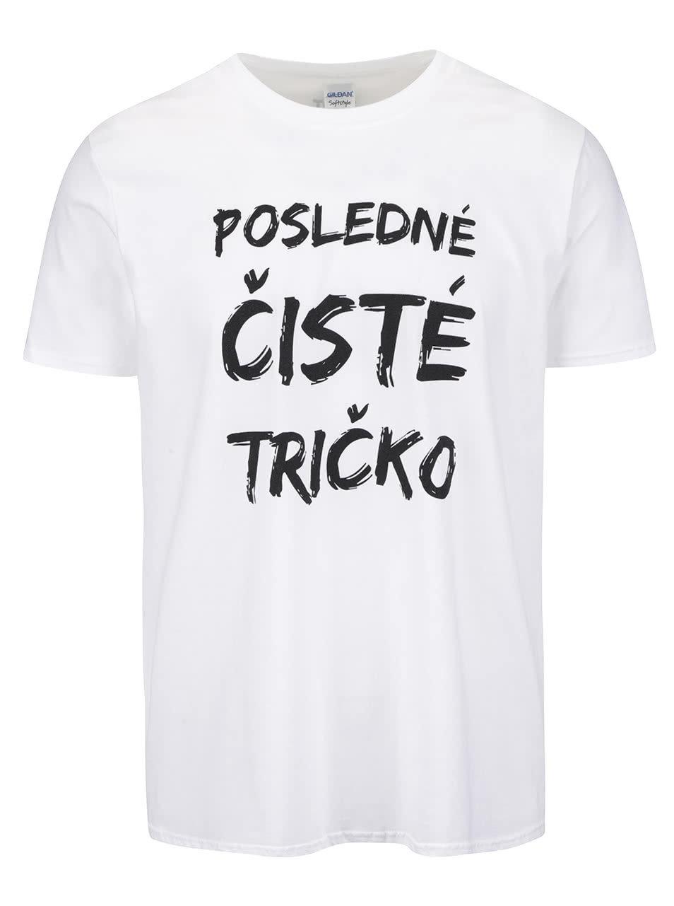 dfad38e8d2e3 Biele pánske tričko s potlačou ZOOT Originál Posledné čisté tričko ...