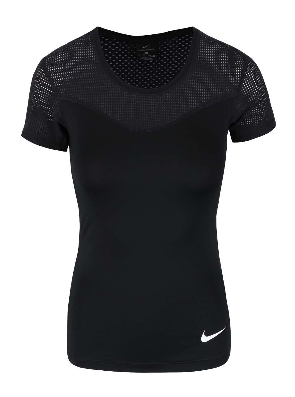 845cdc1edd4a Černé dámské tričko Nike Pro Hypercool ...