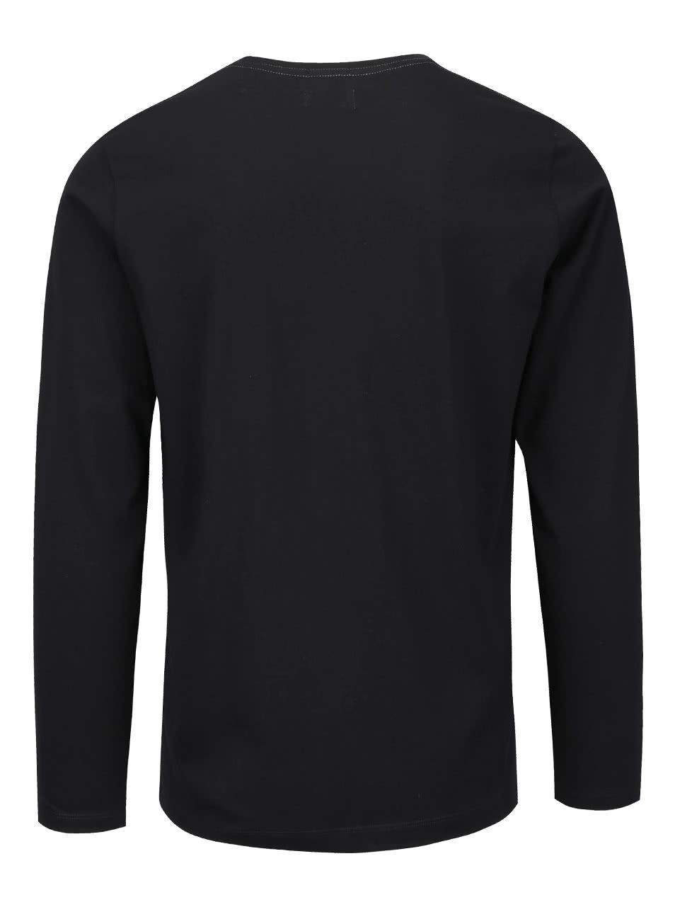 Čierne pánske tričko s dlhým rukávom Pepe Jeans Eggo long ... c79587f203