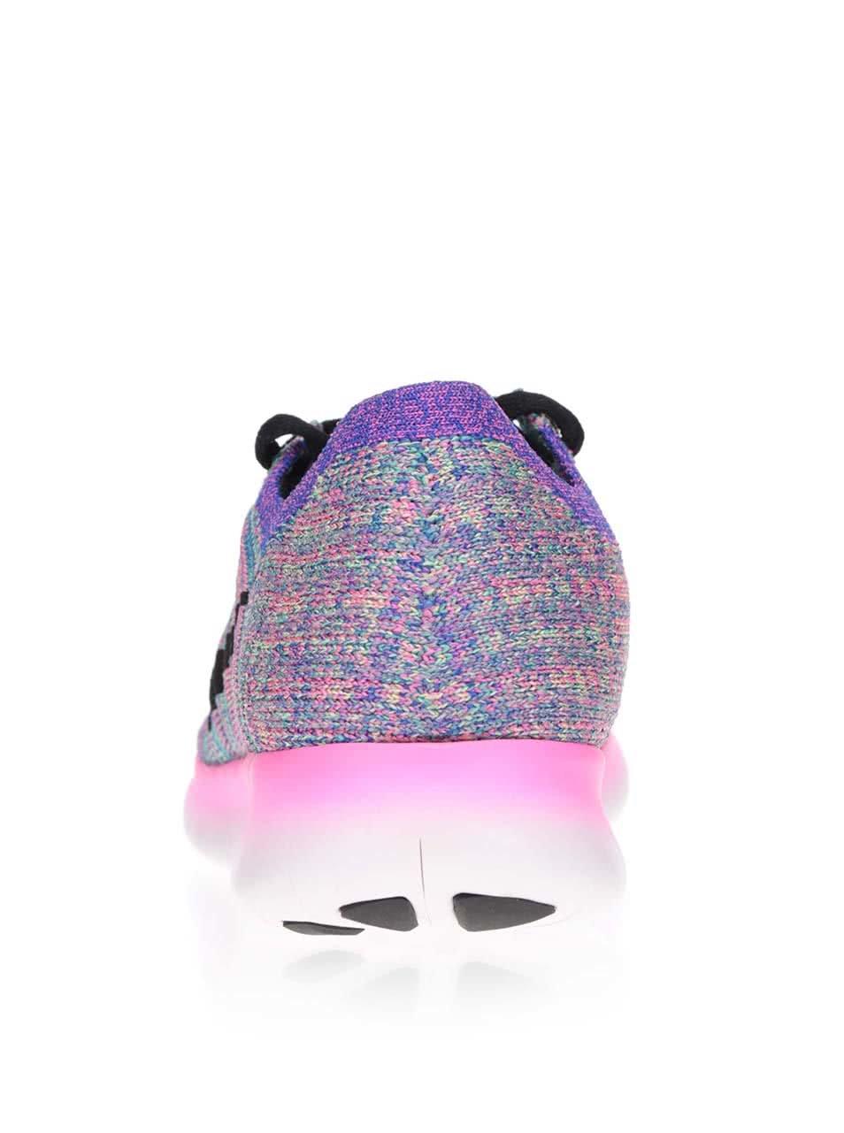 ef6bf2f6c7 Ružovo-fialové melírované dámske tenisky Nike Free Flyknit ...