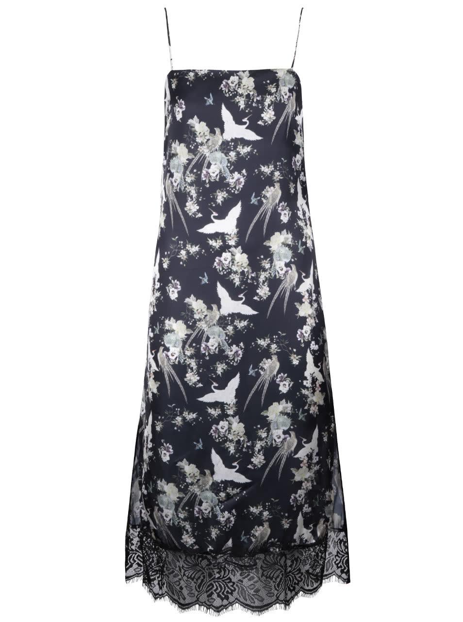 d15bc7309b1 Černé květované šaty na ramínka Miss Selfridge ...