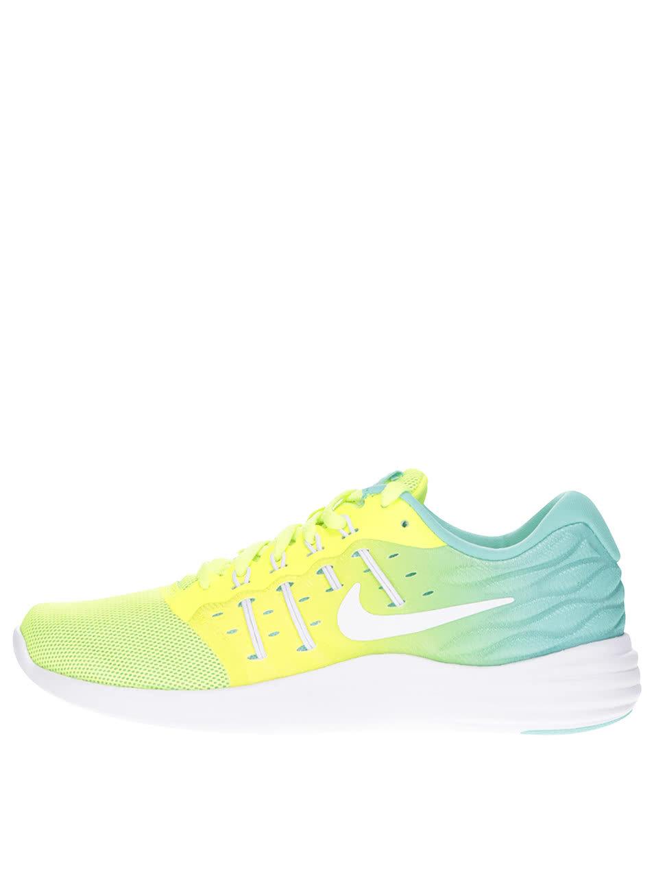 47c105757a5 Žluté neonové dámské tenisky Nike Lunarstelos ...