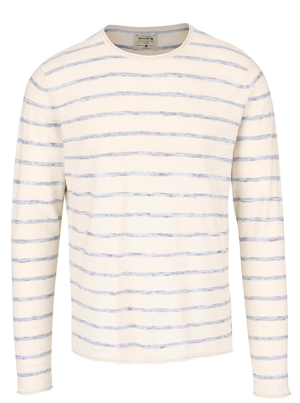 0a92d8c51e53 Krémový sveter s modrými pruhmi Jack   Jones Derrick ...