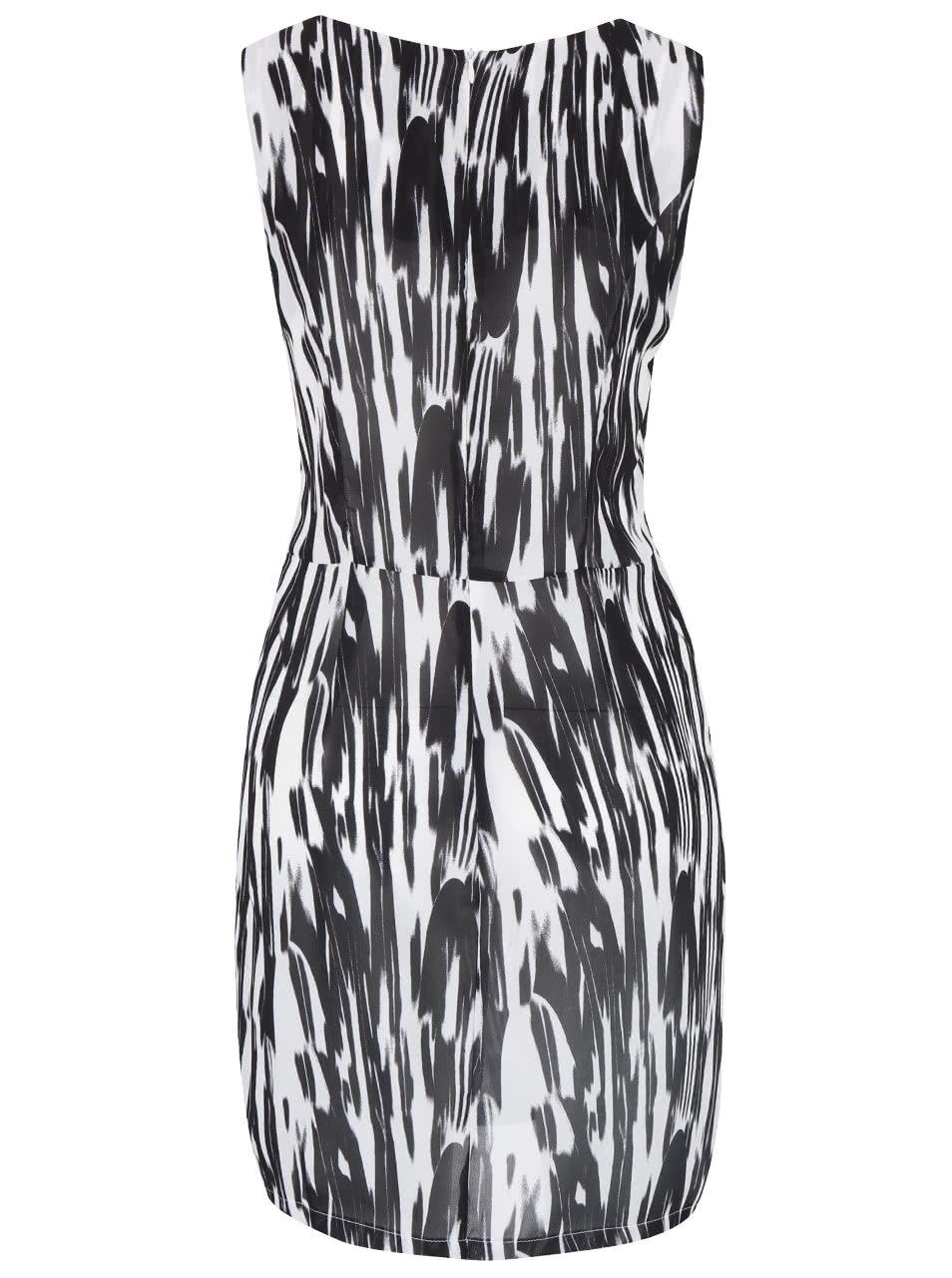 fe6e41b7ff3 Černo-bílé žíhané šaty bez rukávů ZOOT Now ...