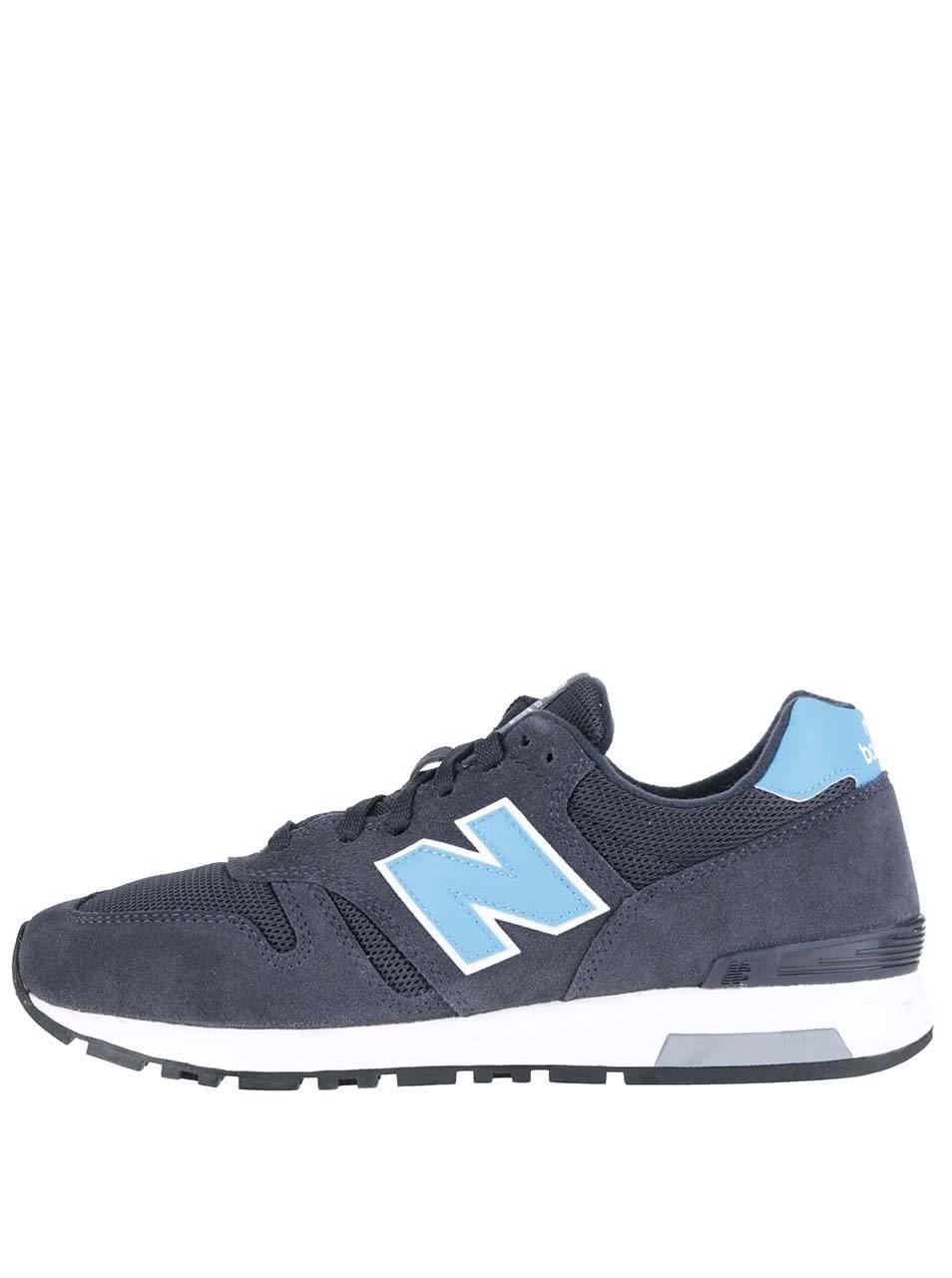 Modro-sivé pánske kožené tenisky New Balance ... c265927a38d