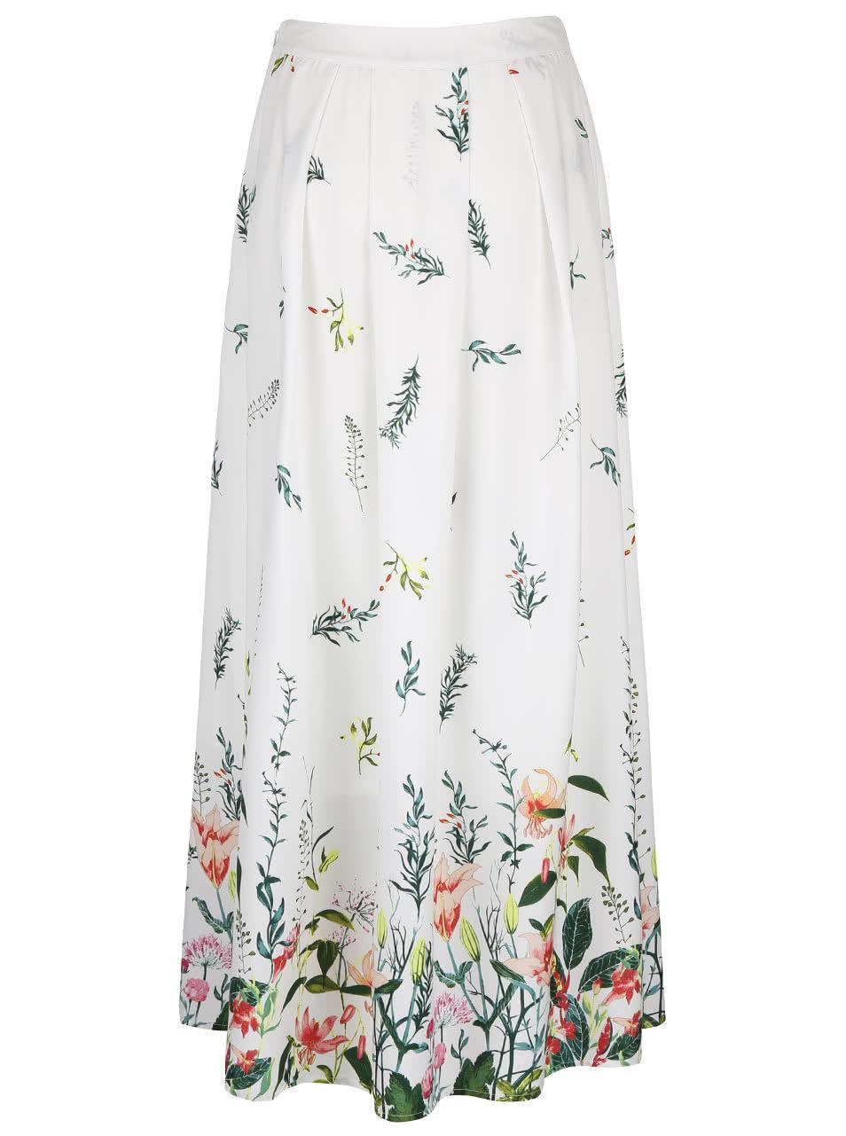 4b5259f7efa1 Krémová dlhá sukňa s kvetinovou potlačou VERO MODA Oni ...