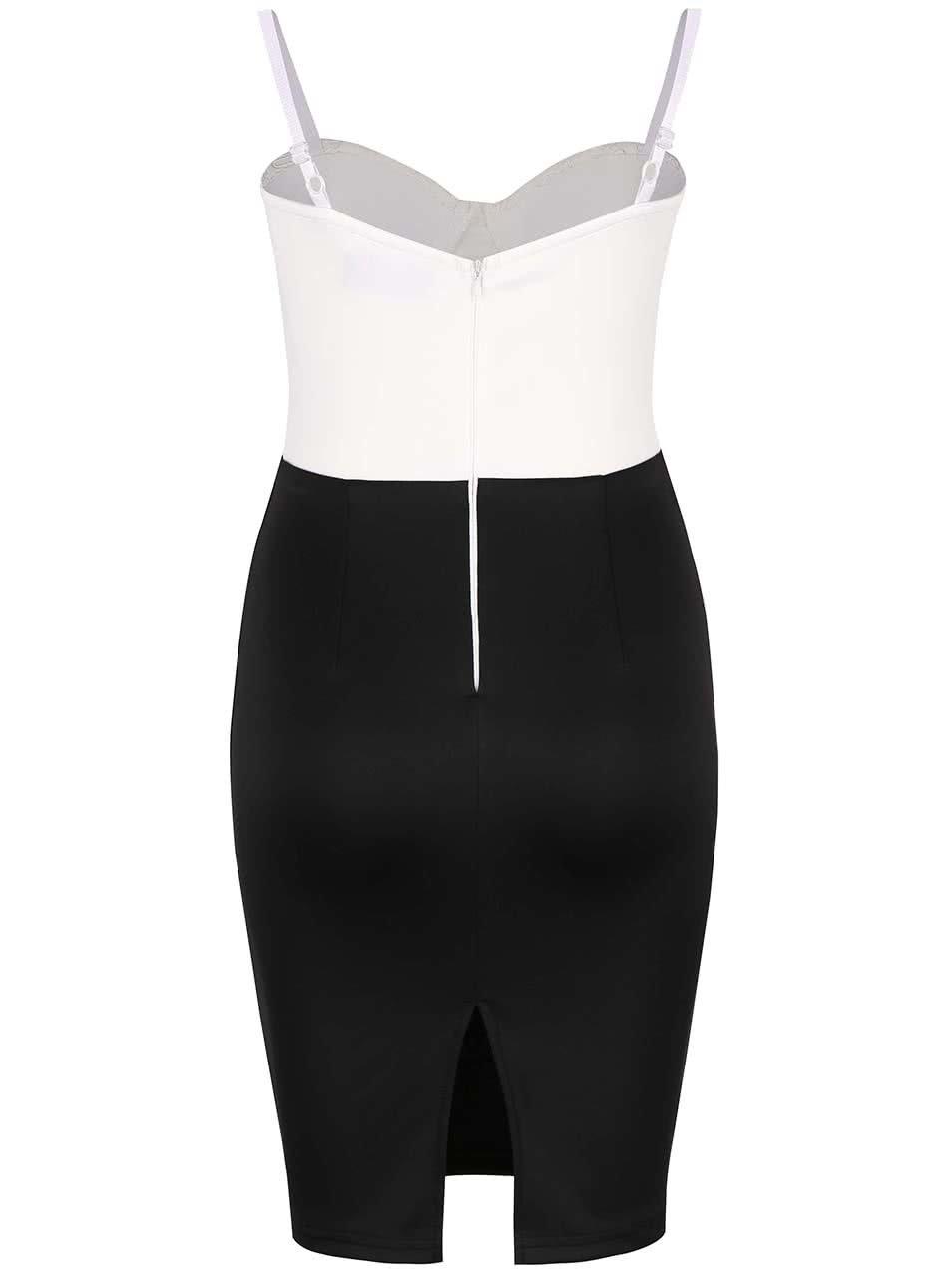 Krémovo-černé šaty na úzká ramínka AX Paris ... 7a60154a8d