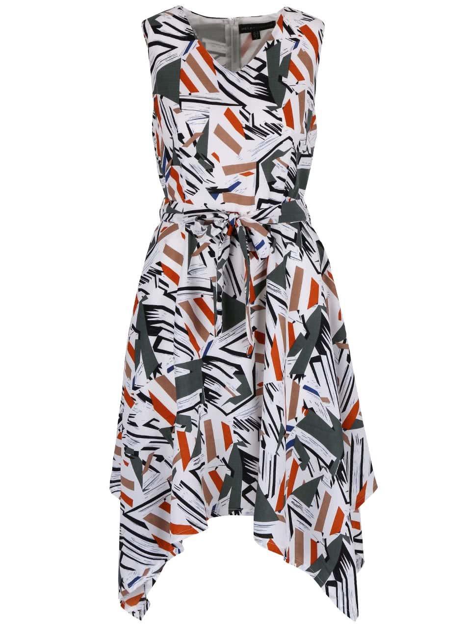 Krémové vzorované šaty s predĺženými cipmi Mela london ... adc67a86969
