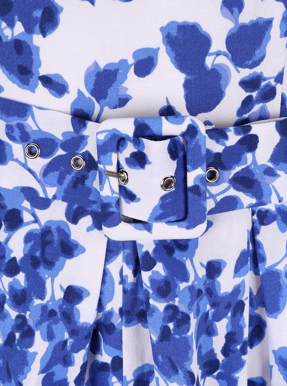 26aa45dfc9d8 Modro-bílé květované šaty Dolly   Dotty Annie ...