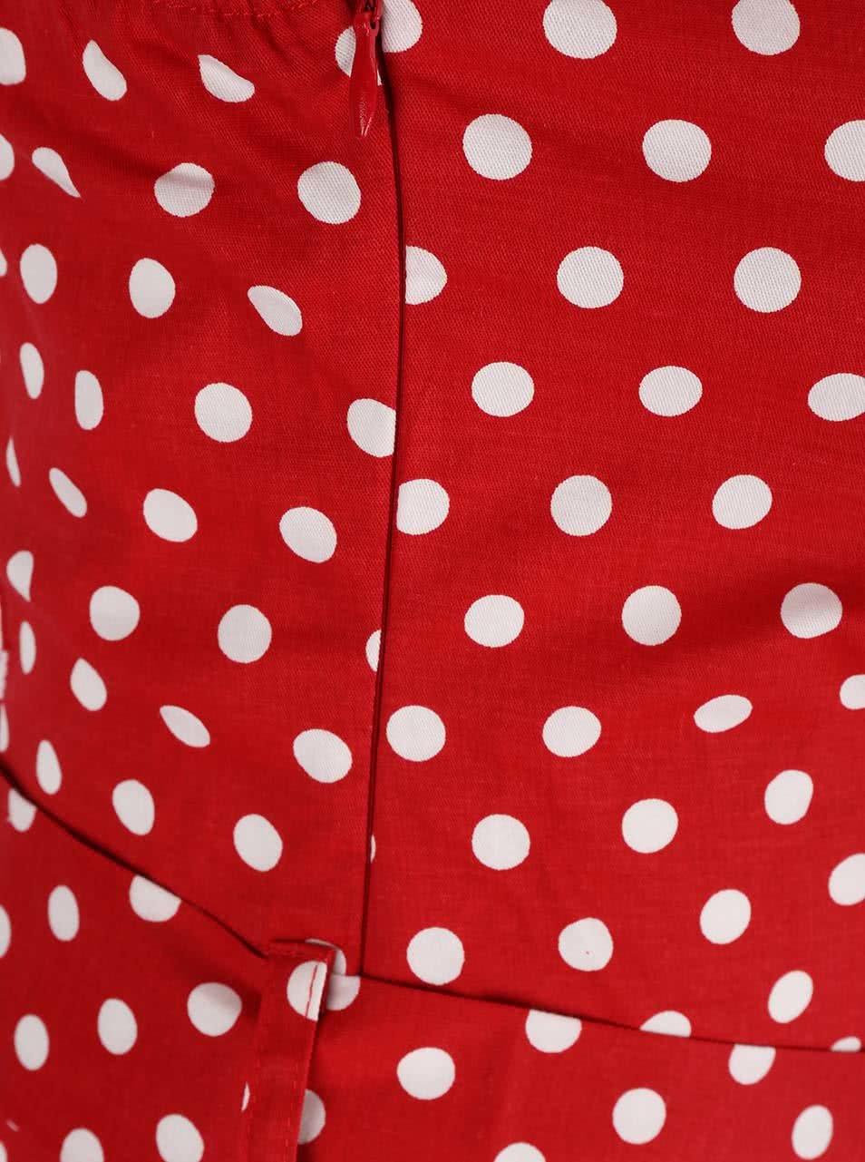 Červené puntíkované šaty na zavazování za krk Dolly   Dotty Penny ... b717f71356