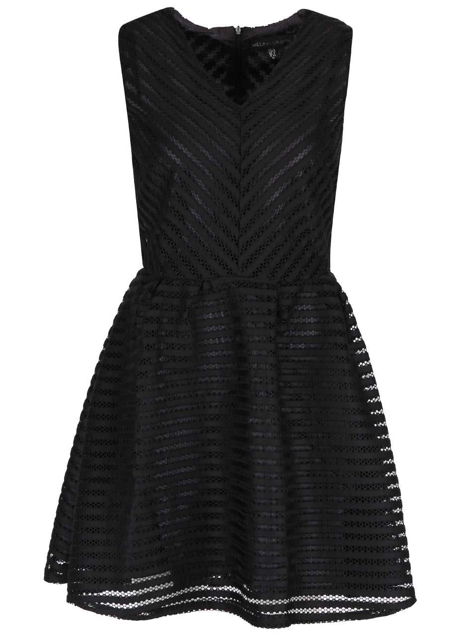 3659aabdeb3c Černé šaty s průhlednou vrchní částí Mela London ...
