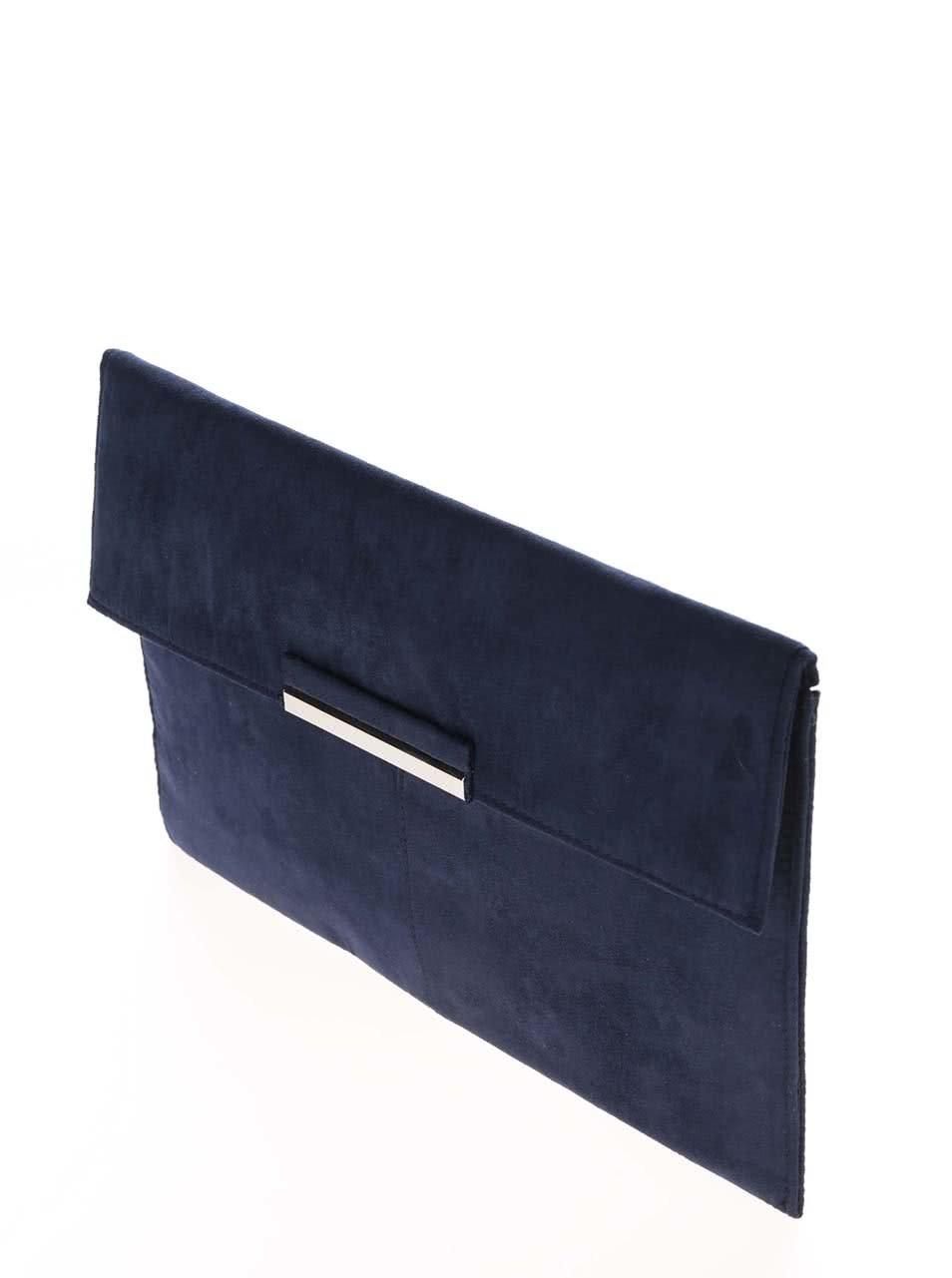 241b19e82c Tmavomodrá listová kabelka v semišovej úprave Dorothy Perkins ...
