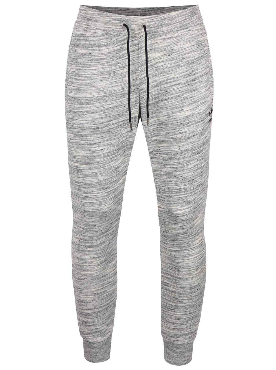 Sivé melírované pánske tepláky adidas Originals PT ... 10df0c067ca