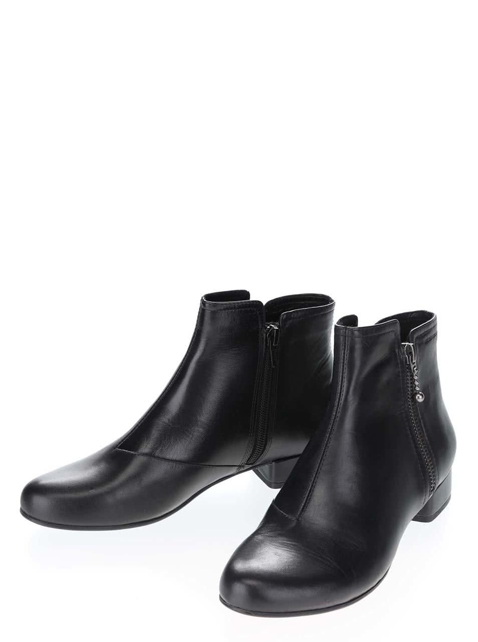 840153f5b79 Černé kotníkové kožené boty na malém podpatku Vagabond Sue ...