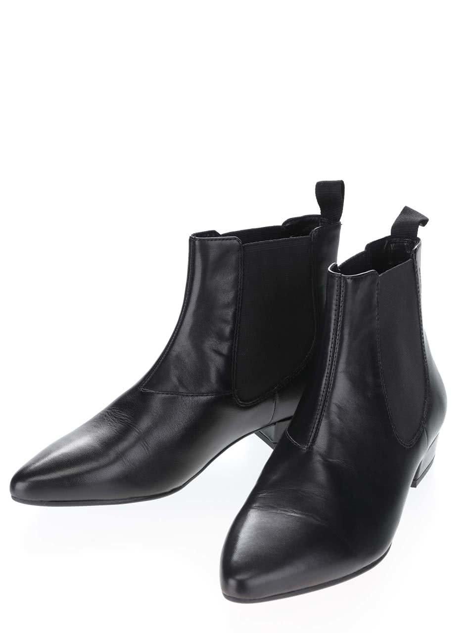 Čierne dámske kožené chelsea topánky Vagabond Sarah ... 38047b06d3c