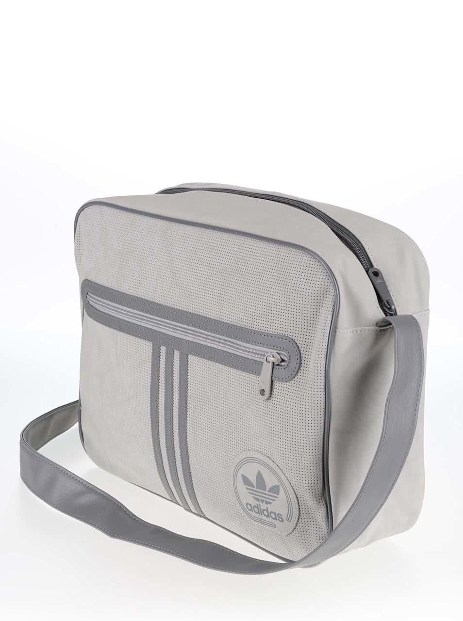 34a754799d Sivá taška cez rameno adidas Originals Airliner ...