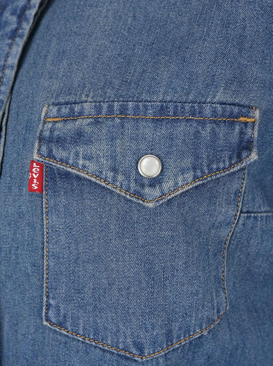 Modré džínové šaty s dlouhým rukávem Levi s® ... cfed4b5df65