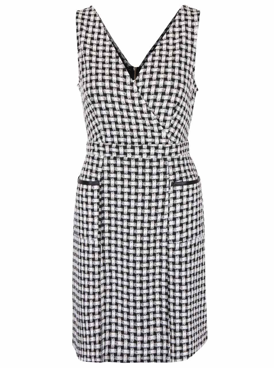 Čierno-biele šaty s vreckami Dorothy Perkins ... 850876e7363