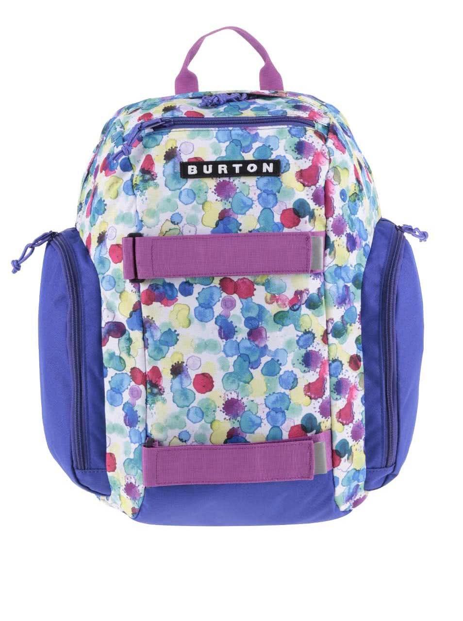 Bílo-fialový dětský batoh s barevnými puntíky Burton MetalHead ... 8e030d496c