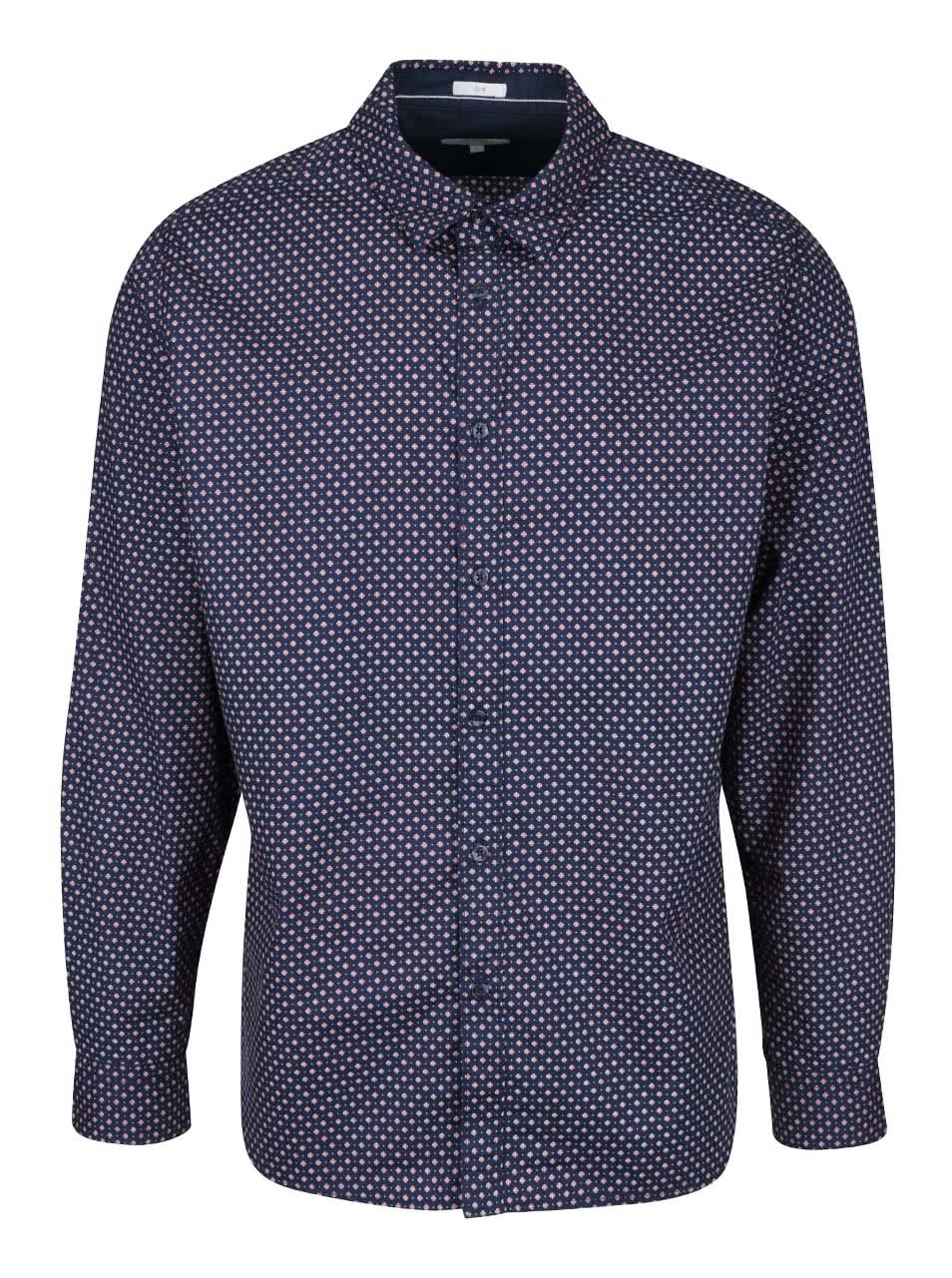 dbcd67a8777 Tmavě modrá pánská slim fit košile se vzorem Pepe Jeans Calengon ...