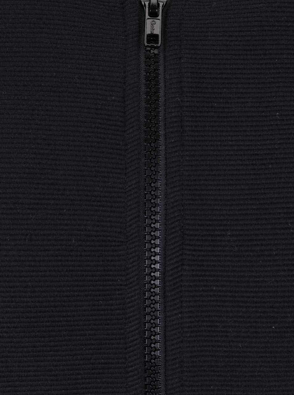 Černá pánská mikina na zip bez kapuce Broadway Neely ... b7e021520f