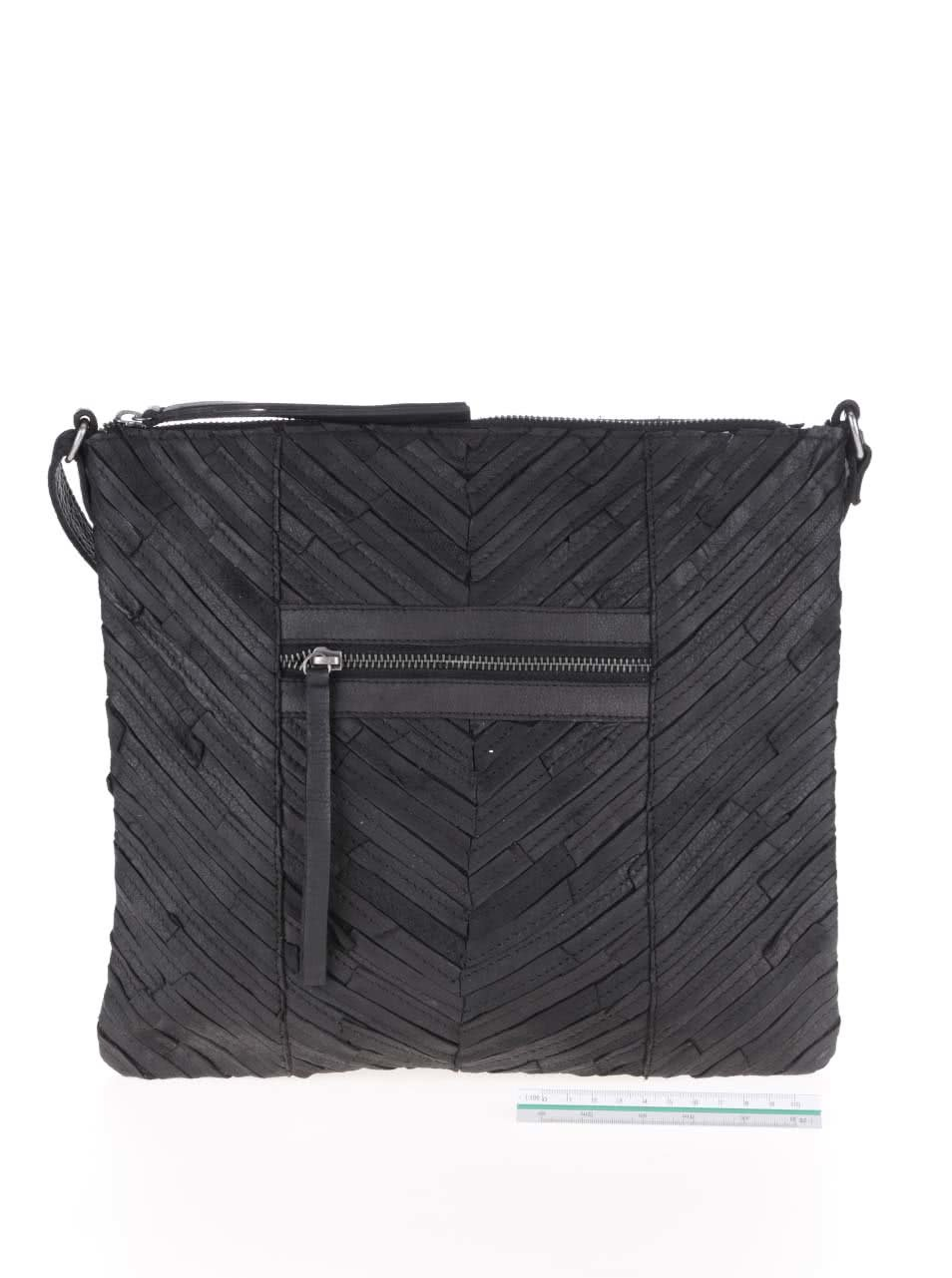 e777bfd442 Čierna kožená crossbody kabelka Pieces Piper ...