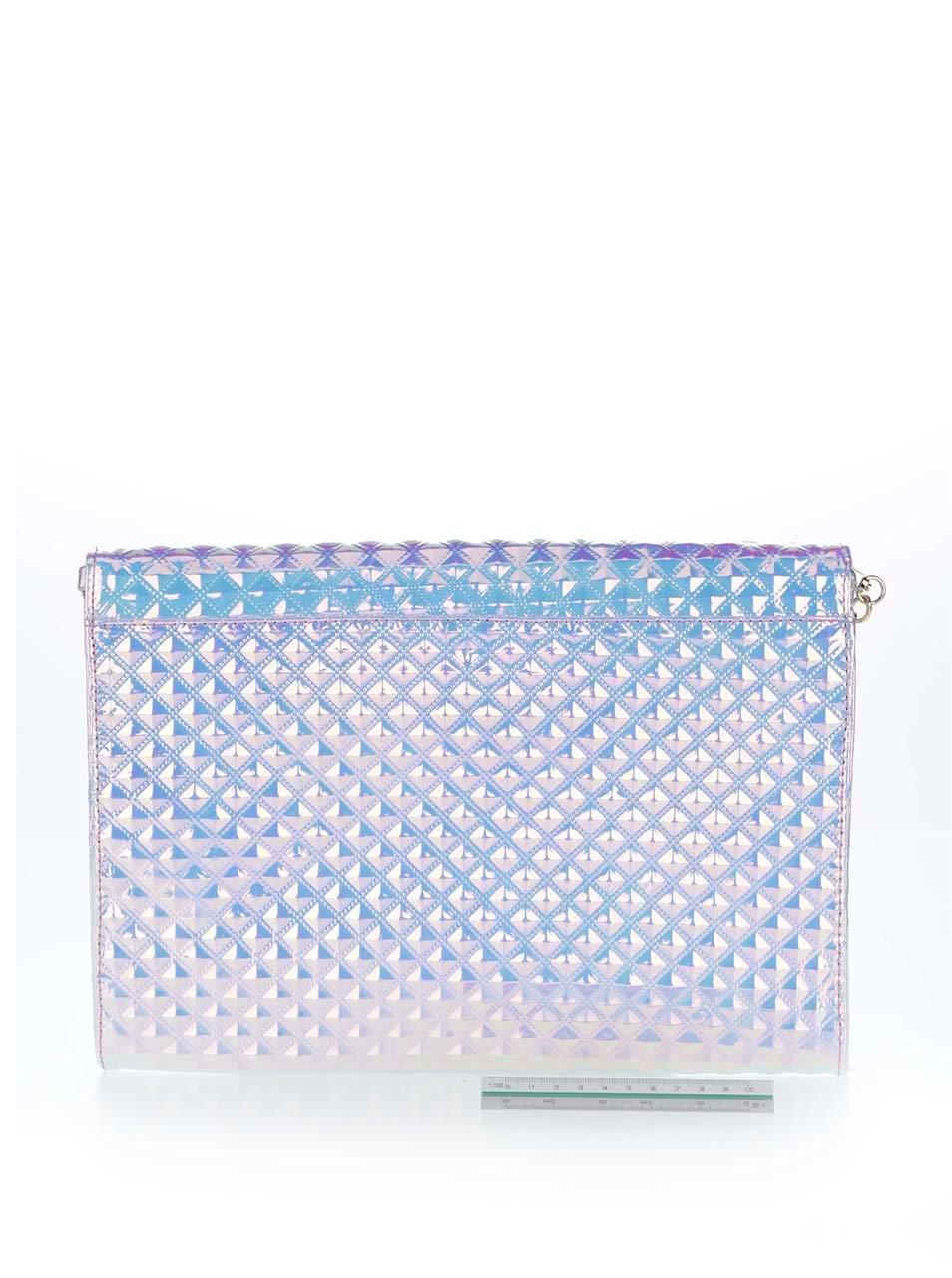 Holografická listová kabelka s plastickými pyramídami LYDC ... 104ea8960ce
