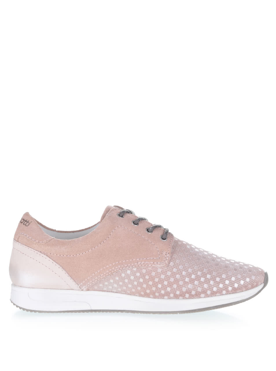 Ružové dámske semišové tenisky bugatti ... 6a76233a309