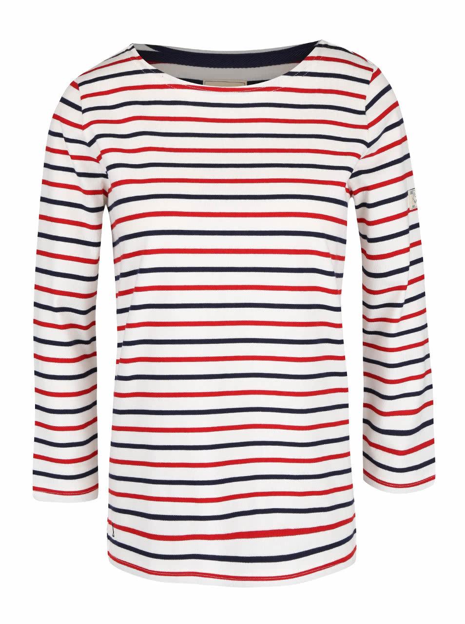 1587f76e23 Krémové dámske tričko s modro-červenými pruhmi Tom Joule Harbour ...