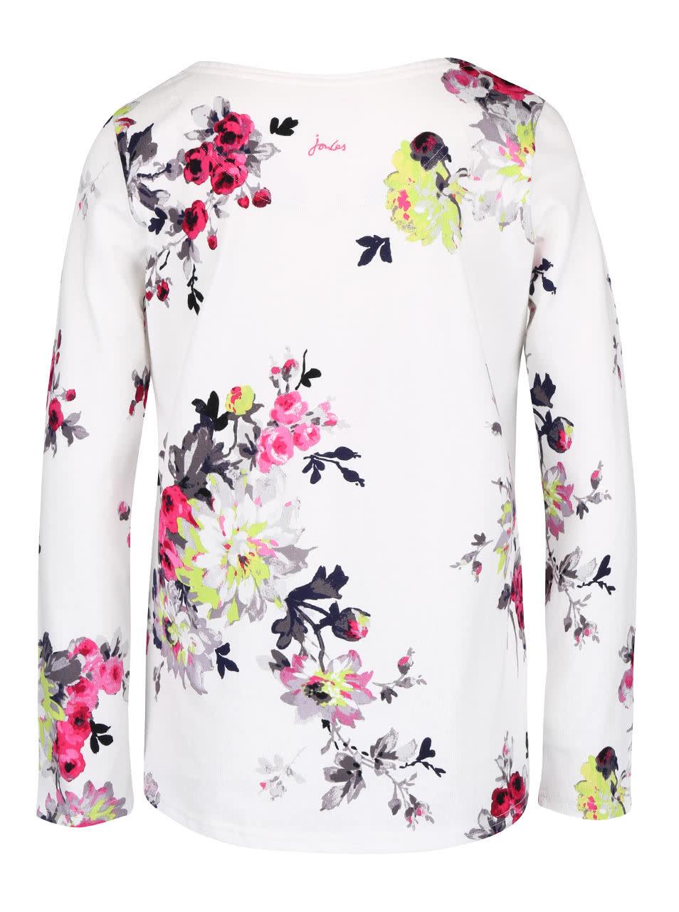 e2764e19c34e Krémové dámske kvetované tričko s dlhým rukávom Tom Joule Harbour ...