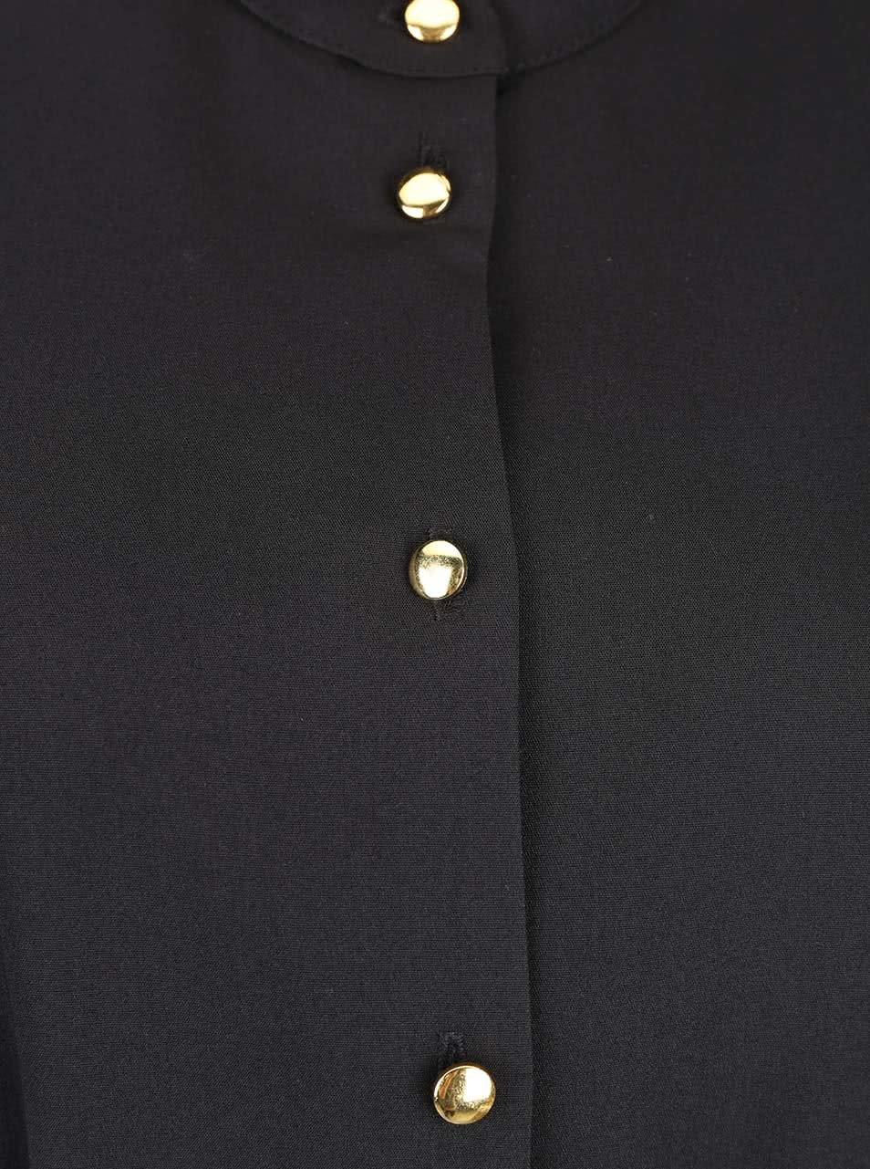 fa7199daef3 Černé šaty s knoflíky ve zlaté barvě Closet ...