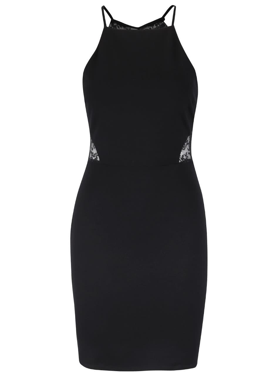 585b057aede6 Čierne šaty s čipkou na chrbte Miss Selfridge ...