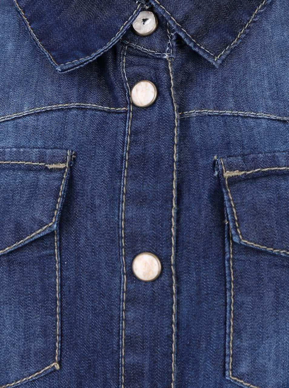 677f9ff3a675 Tmavomodrá rifľová dievčenská košeľa name it Cha ...