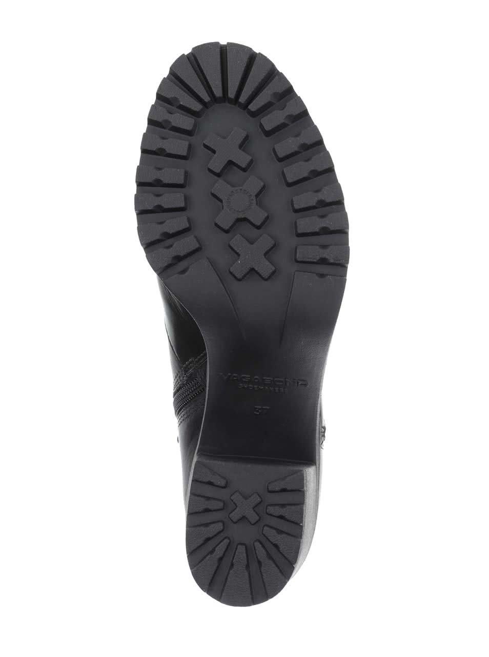 be101515f7a Černé kožené kotníkové boty na podpatku Vagabond Grace ...