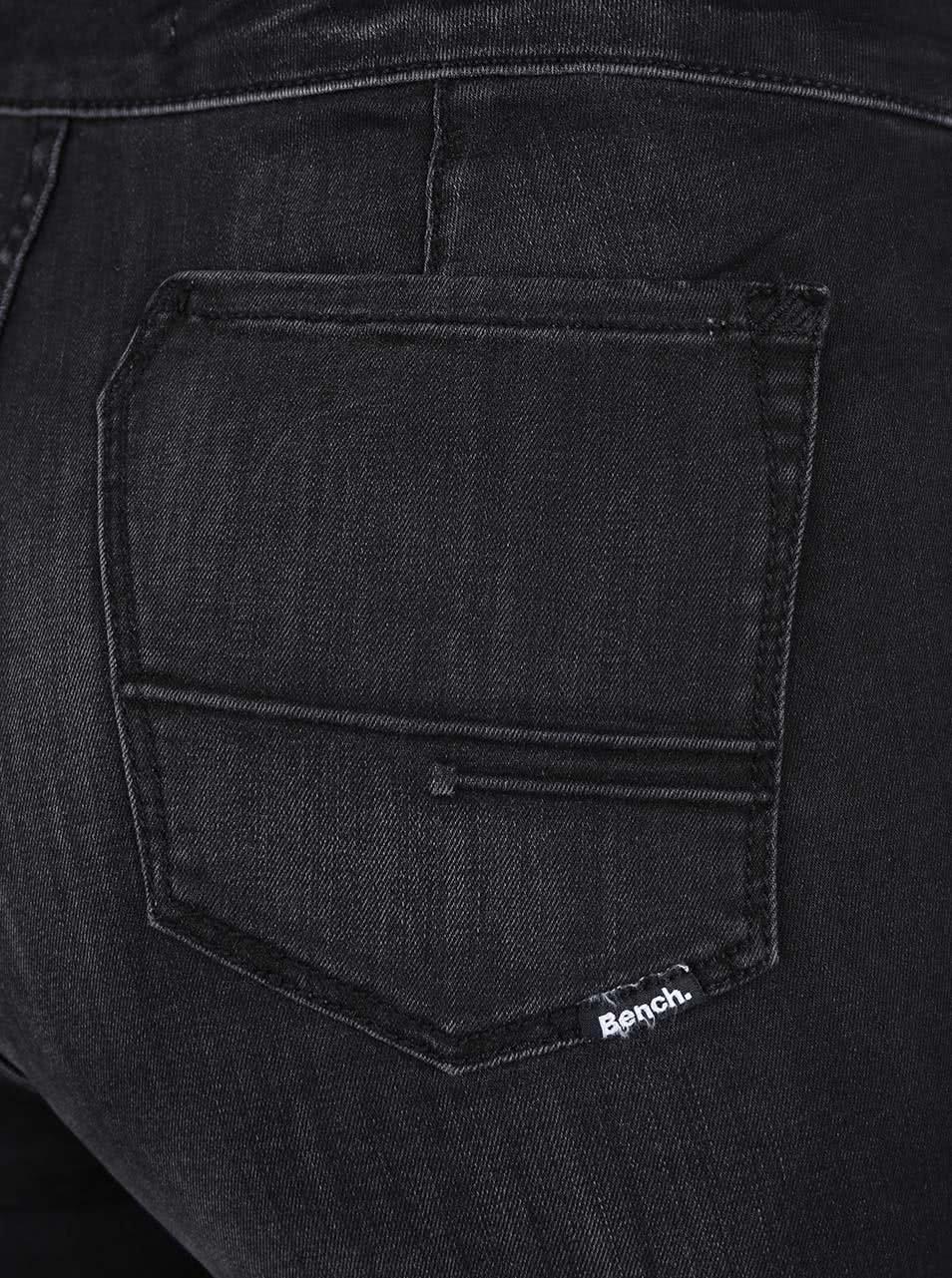 Černé dámské džíny se zipem na boku Bench ... cf5d97a640
