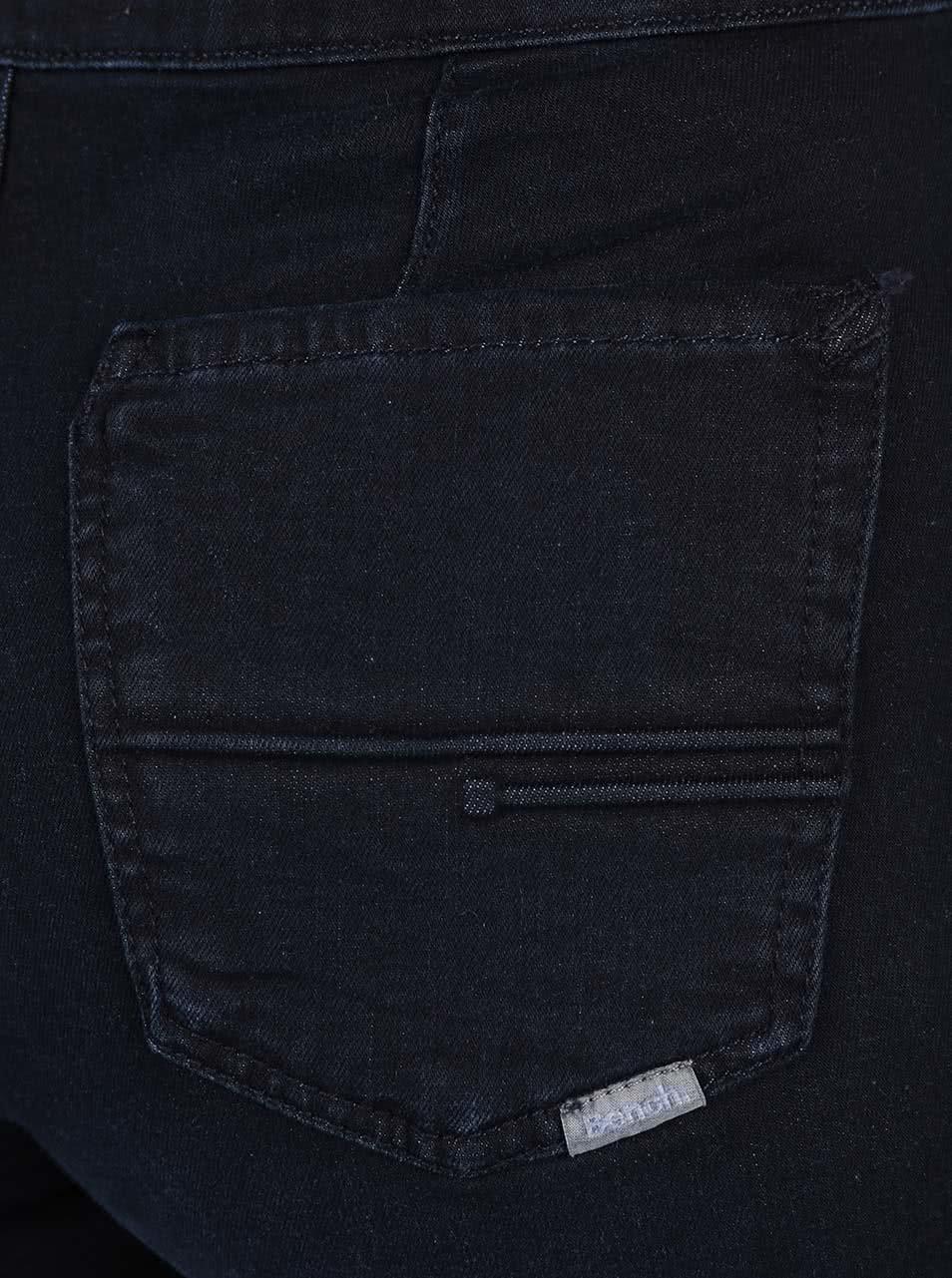 Tmavě modré dámské džíny se zipem na boku Bench ... 95b5ece4f5