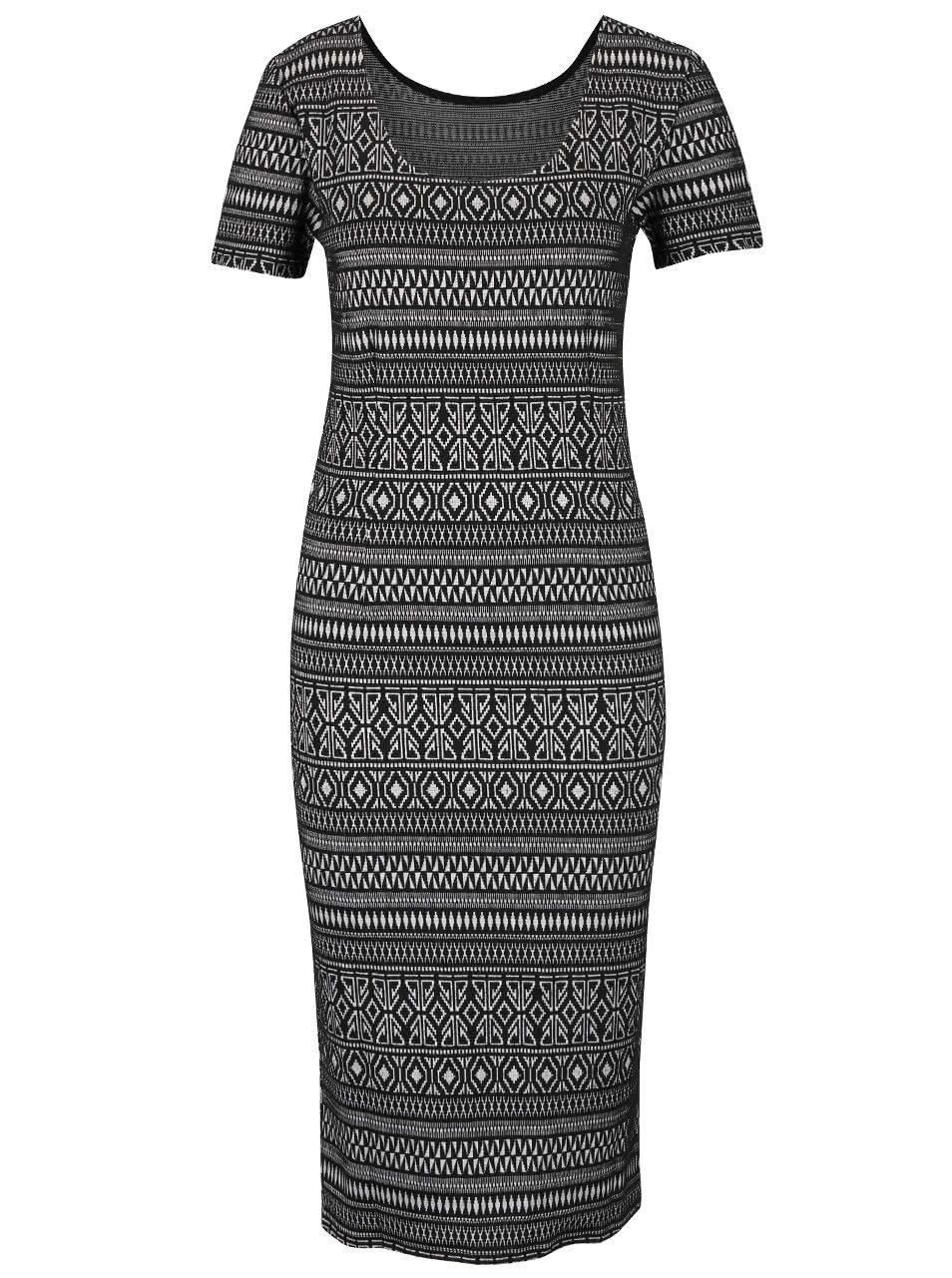 Černé dlouhé šaty se vzorem ONLY Charlene ... d891c74425