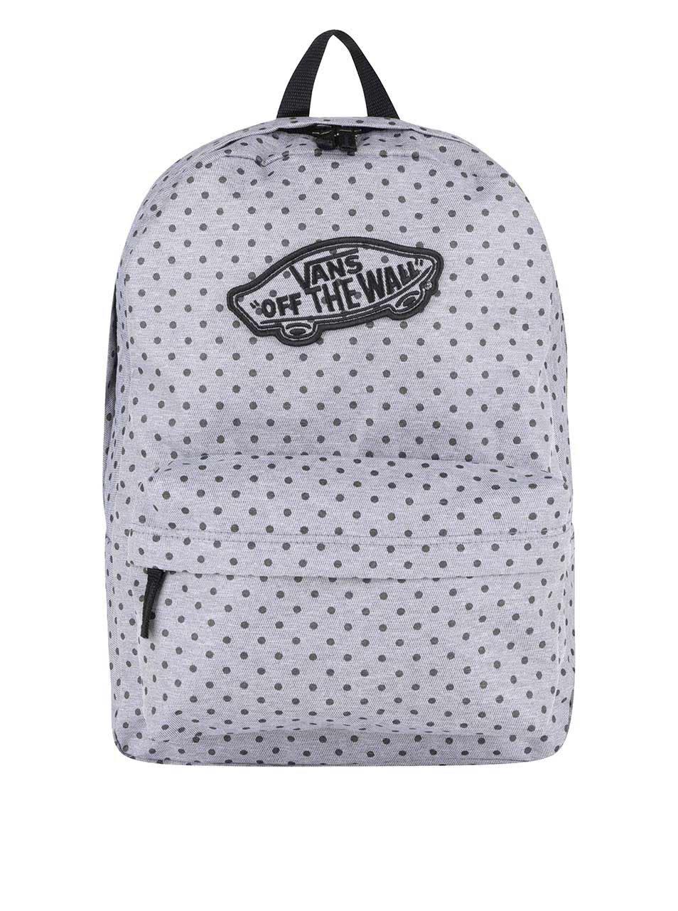 Šedý dámský batoh s puntíky Vans Realm ... 24a84d7425