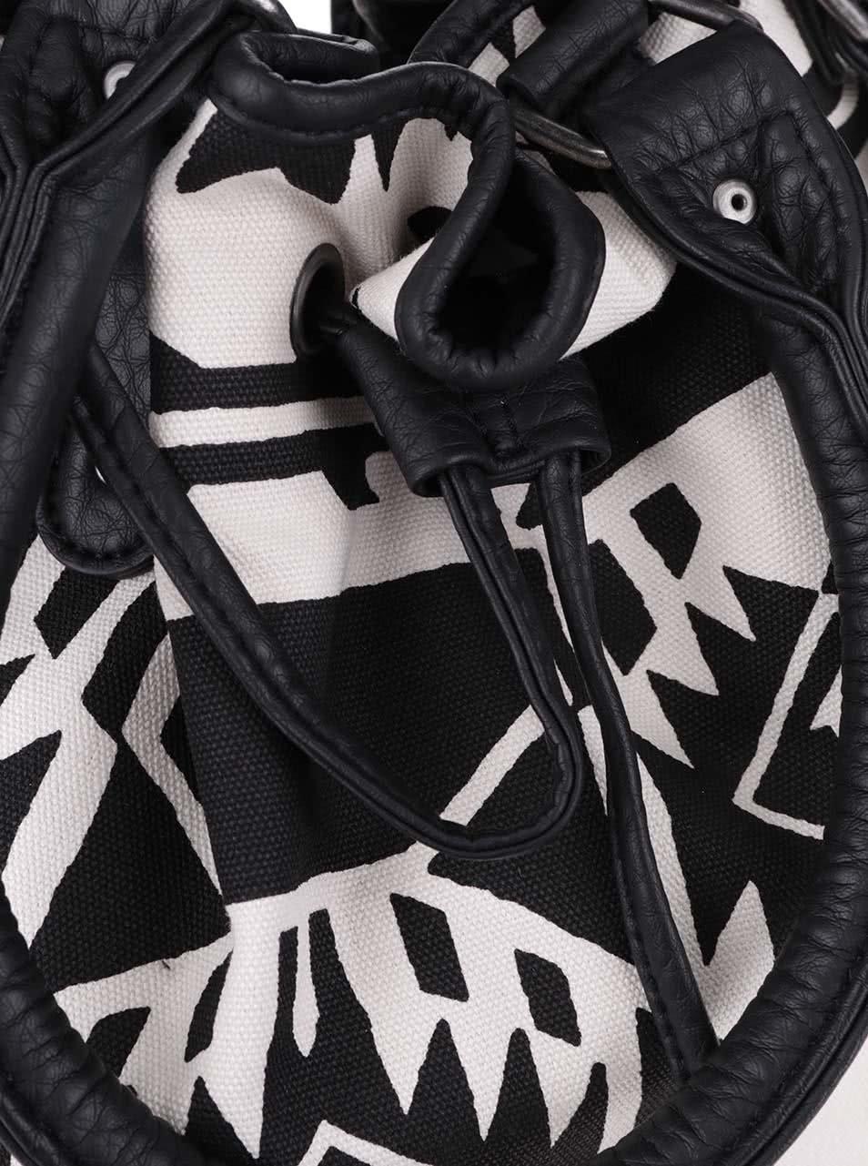 fdee812cc4 Krémovo-čierna vzorovaná kabelka cez rameno Vans Amelia ...