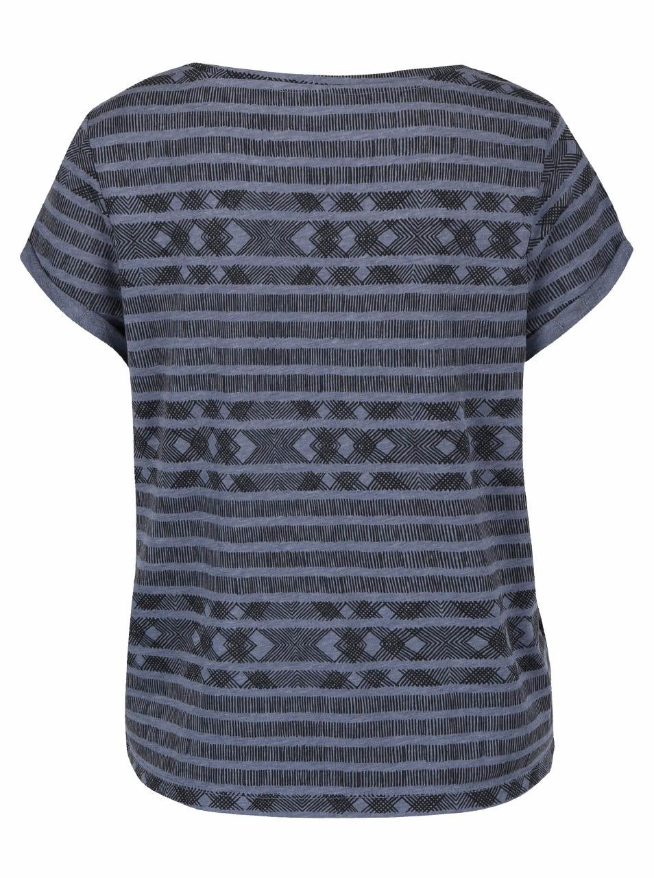 53b44fb96b130 Modré dámske vzorované tričko QS by s.Oliver   ZOOT.sk