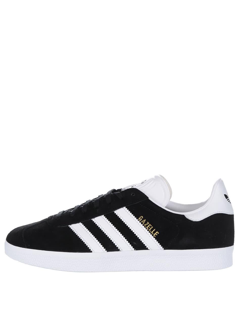 cc340e28016 Černé pánské semišové tenisky adidas Originals Gazelle ...