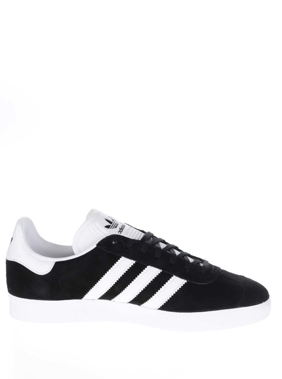 Čierne pánske semišové tenisky adidas Originals Gazelle ... 5903fb253d6
