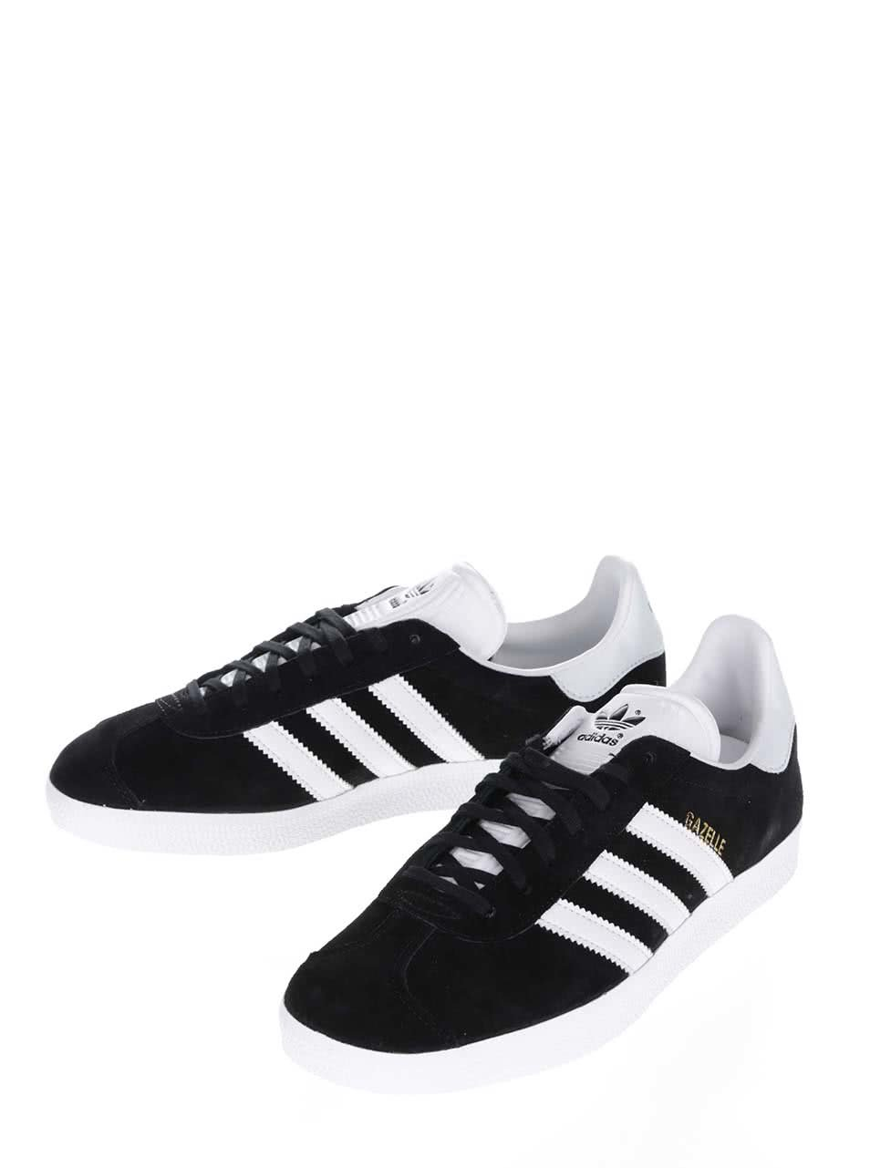 19e365956f Černé pánské semišové tenisky adidas Originals Gazelle ...