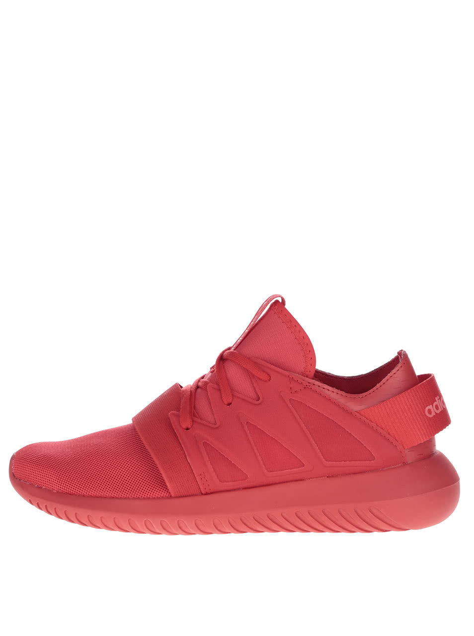 Červené dámske tenisky adidas Originals Tubular ... 6781610e184