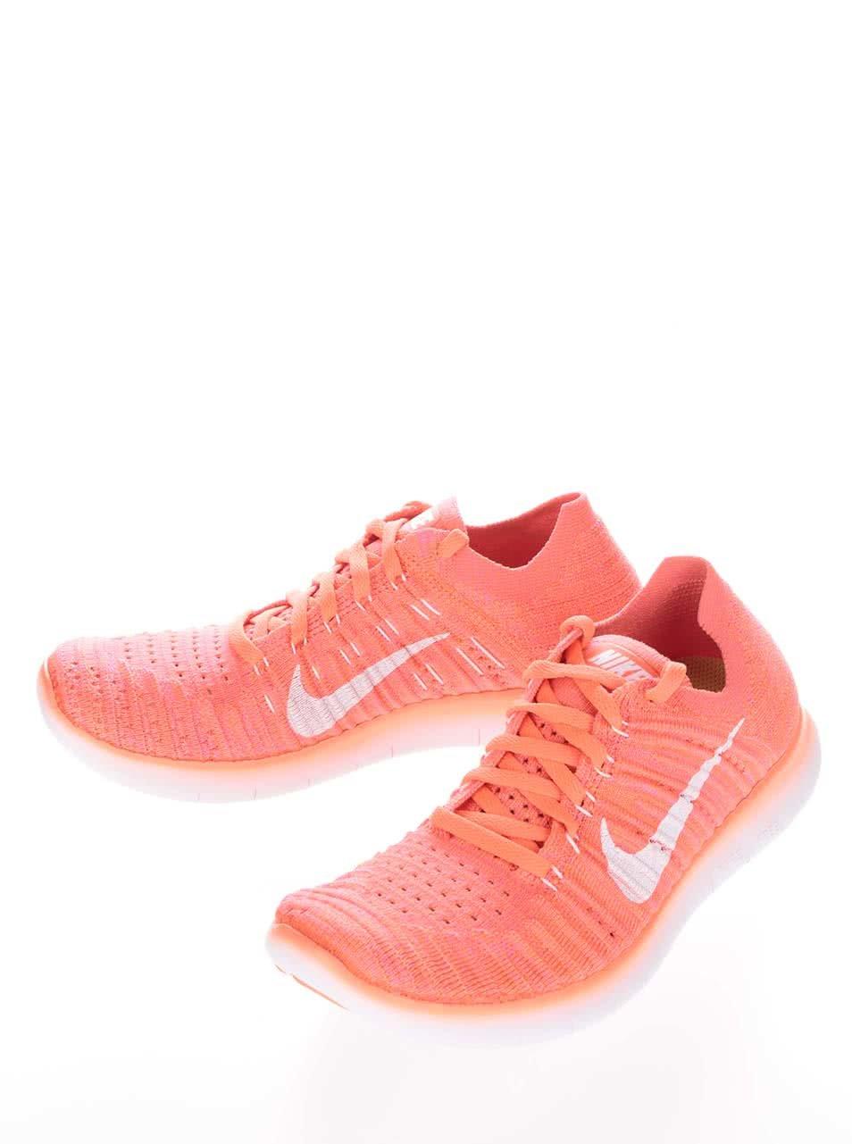 Neonově oranžové dámské tenisky Nike Free Flyknit ... 1339da3c751