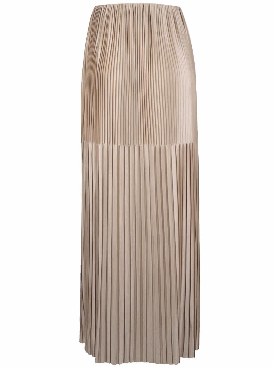 e5019add269f Plisovaná maxi sukně ve zlaté barvě Miss Selfridge ...