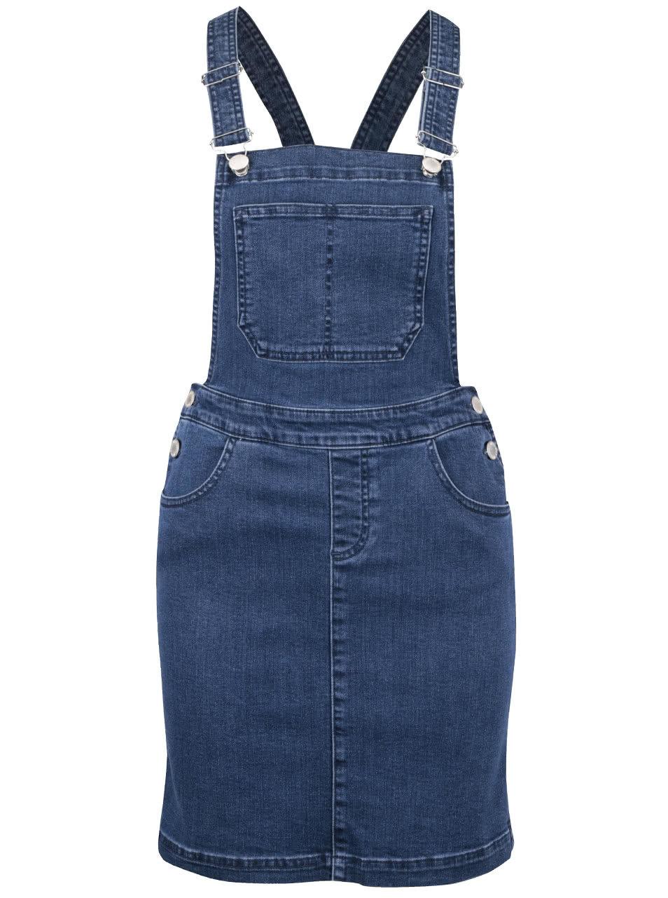 fe407fd39e73 Modré rifľové šaty na traky Miss Selfridge ...