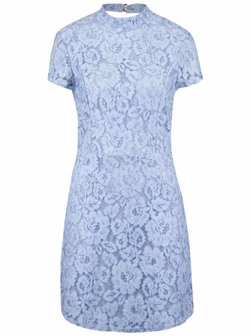 30dd45459ad8 Svetlomodré čipkované šaty Miss Selfridge ...