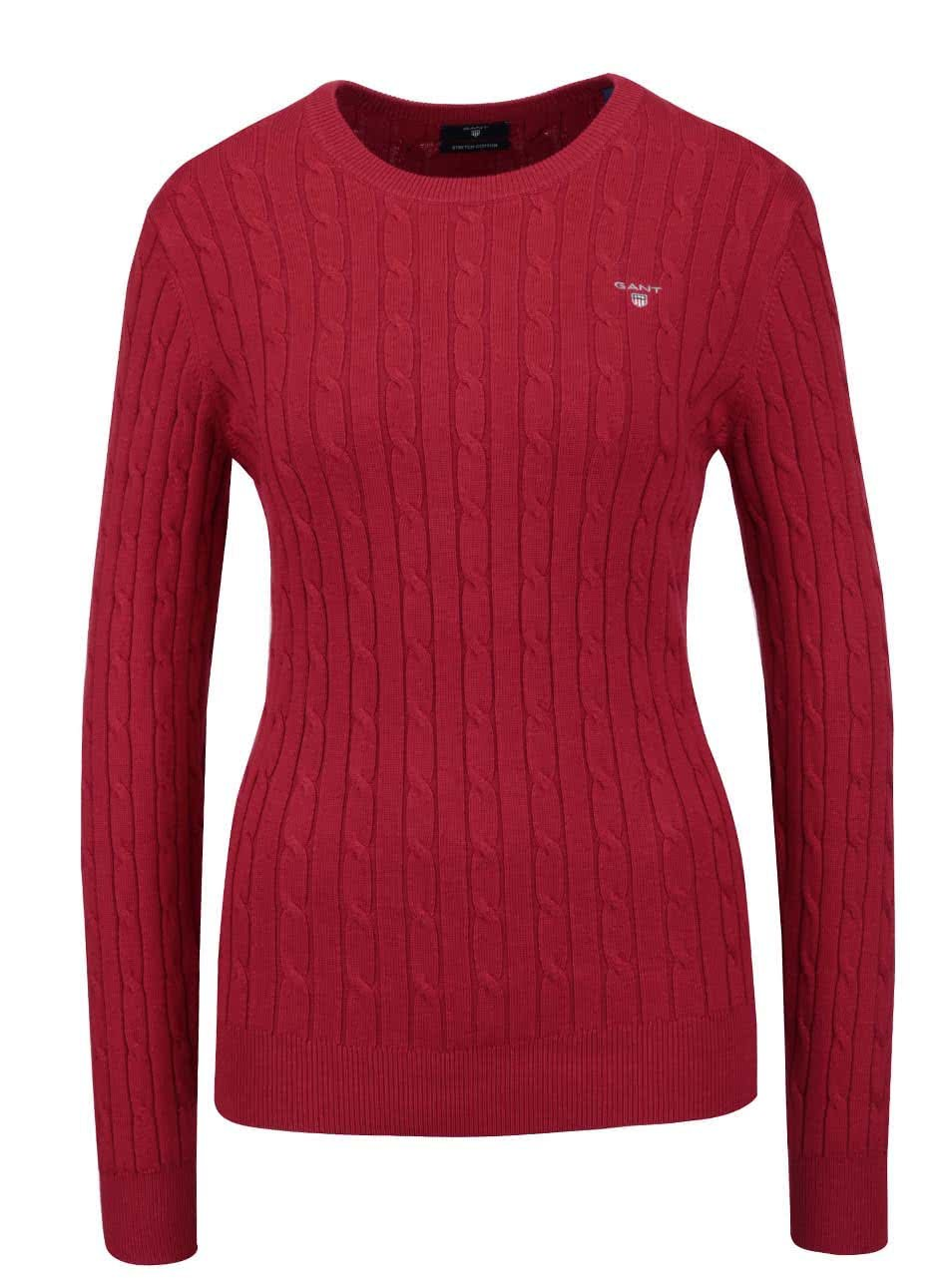 f6625f8348a2 Červený dámsky sveter GANT ...