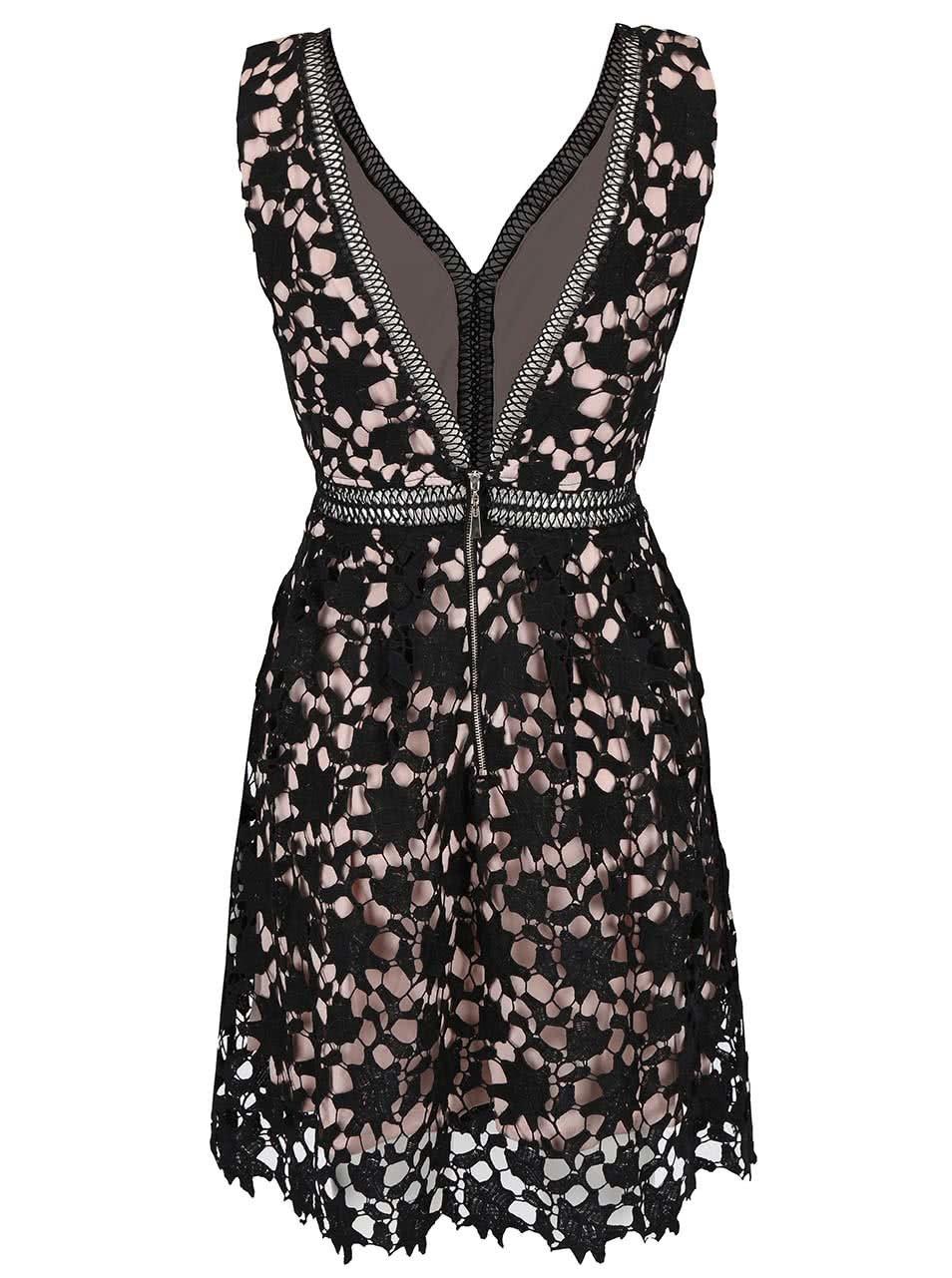 Černé krajkové šaty s hlubokým výstřihem na zádech Apricot ... 00e0590725